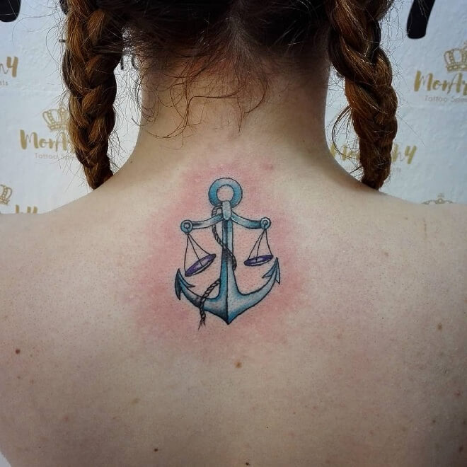 Anchor Libra Tattoo