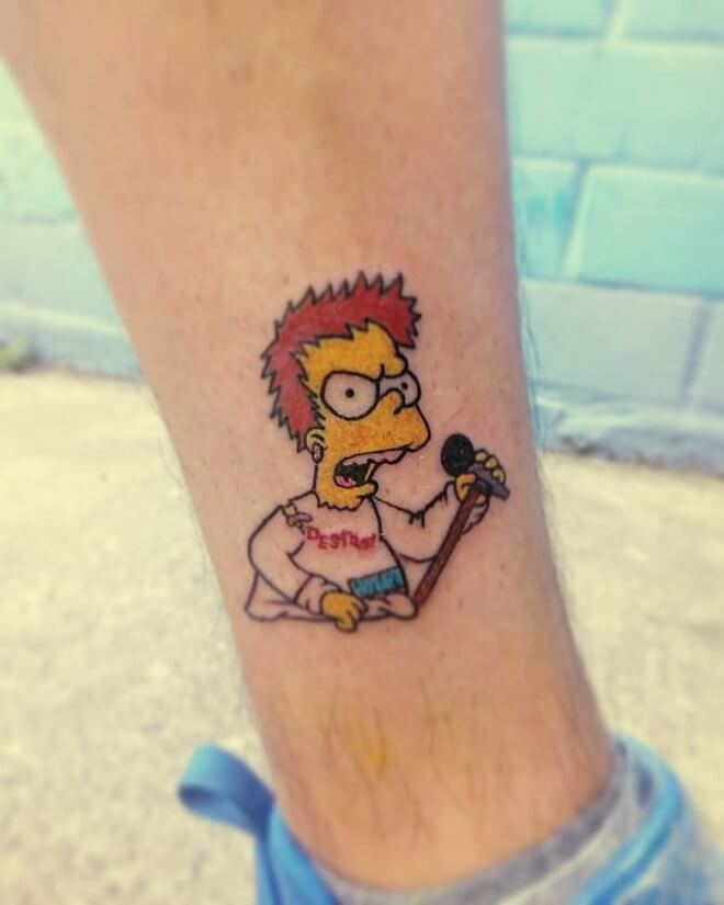 Angry simpsons Tattoo