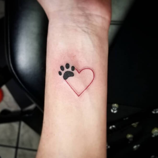 db7dc73d3ee04 Top 30 Paw Print Tattoos | Amazing Paw Print Tattoo Designs 2019