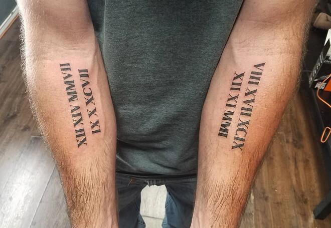 Apprentice Roman Numeral Tattoo