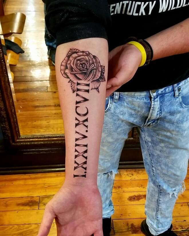 Armt Roman Numeral Tattoo