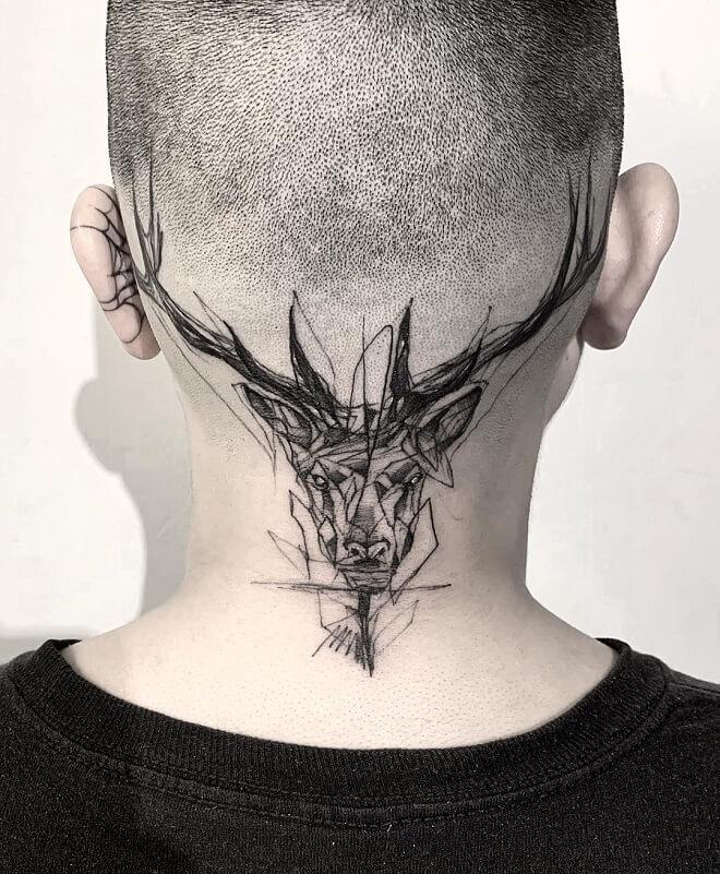 Art work Head Tattoo