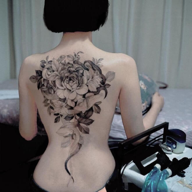 Back Side Chest Tattoos