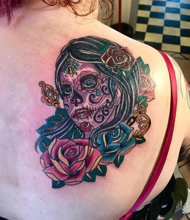 Top 30 Day Of The Dead Tattoos Impressive Day Of The Dead