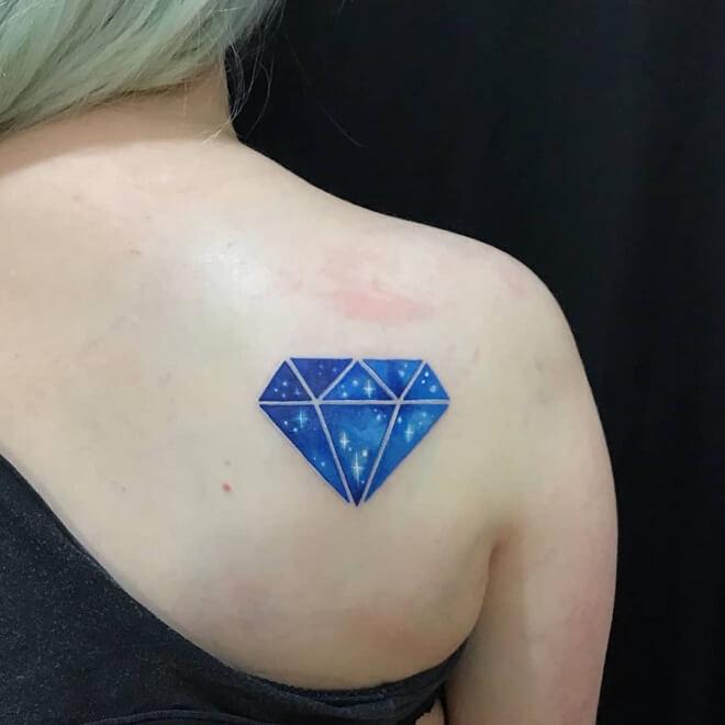 Back Side Diamond Tattoo