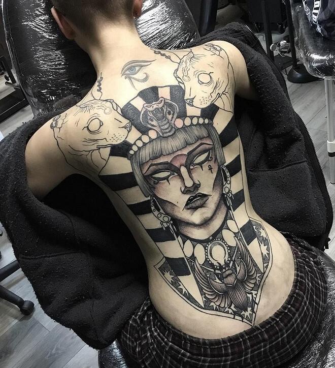 Back Side Egyptian Tattoo