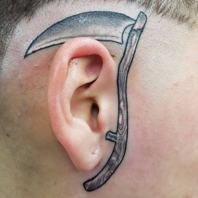 Bicrazors Head Tattoos