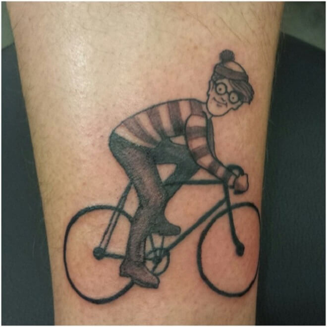 Bicycle Waldo Tattoo