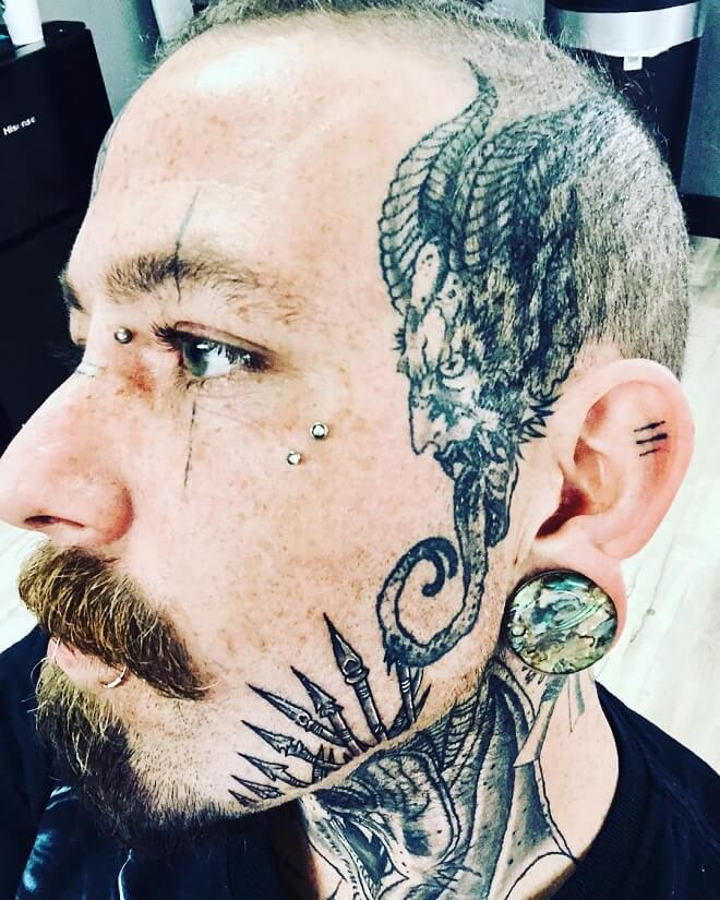 9d8de7ab3 Top 30 Face Tattoos For Men | Face Tattoo Masculine Design Ideas 2019