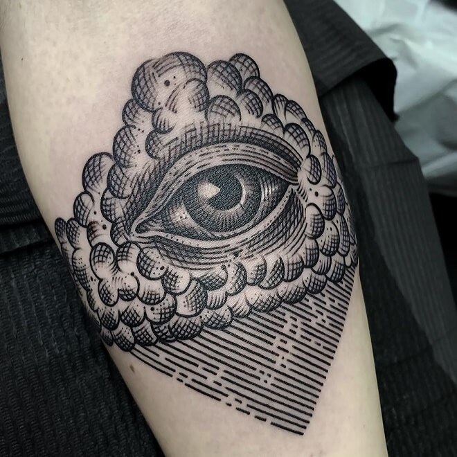 Black Eye Sleeve Tattoo