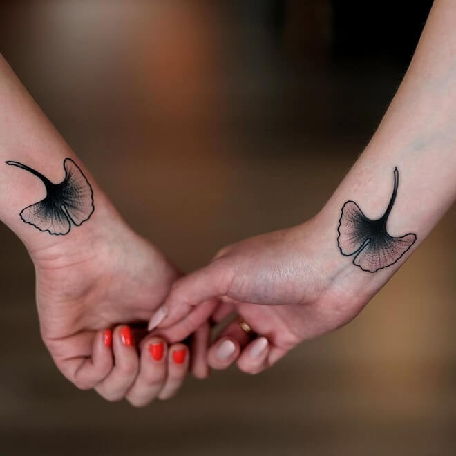 Black Ink Friendship Tattoo