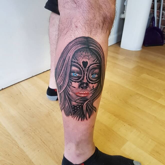 Black Leg Tattoo