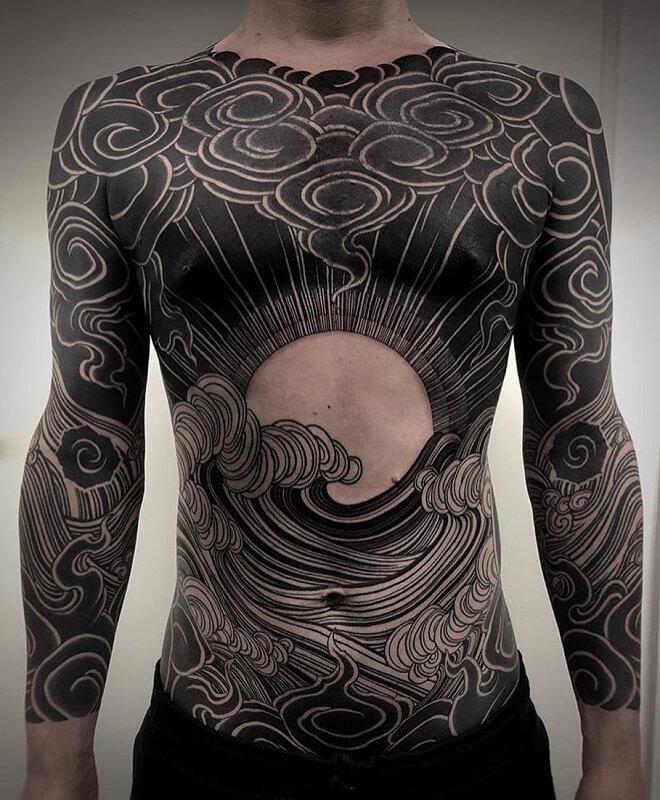 Black Workers Body Tattoo