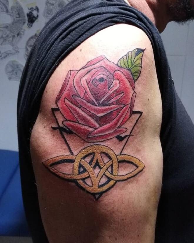 Body Rose Tattoo for Men
