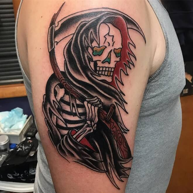 Bold Will Hold Grim Reaper Tattoo