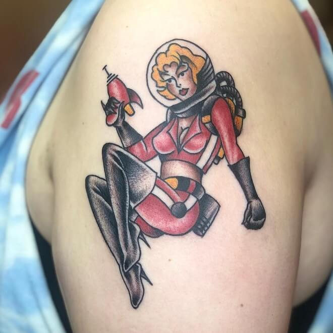 Breland Pin Up Doll Tattoo