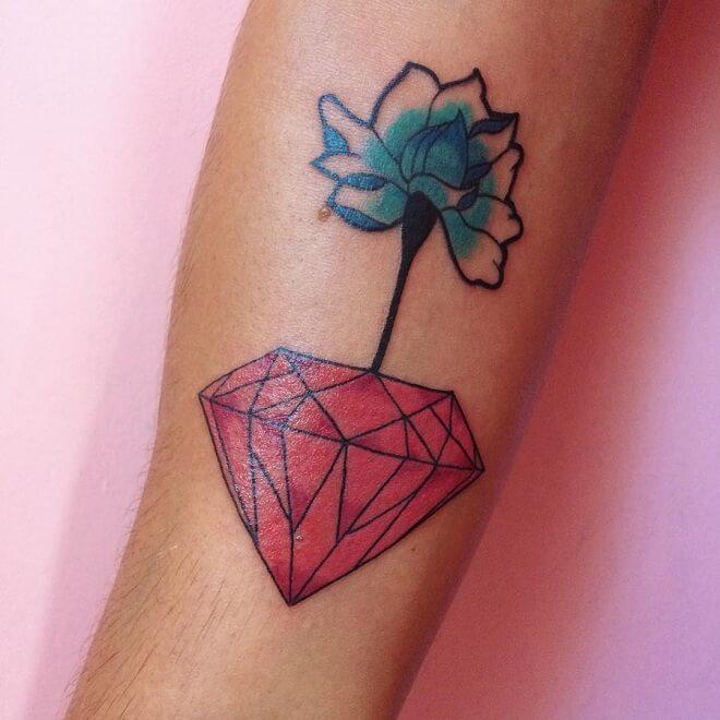 Bright And Bold Diamond Tattoo
