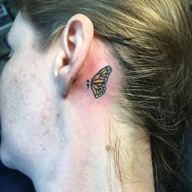 Butterfly Ear Tattoos