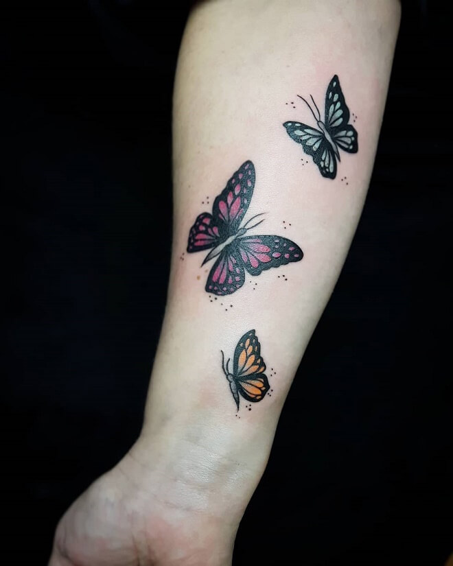 Butterfly Family Tattoo