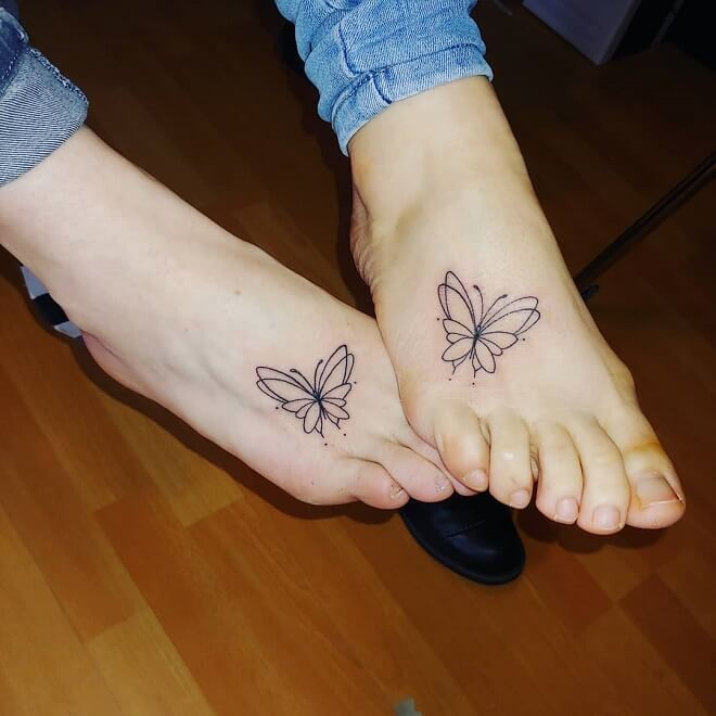 Butterfly Friendship Tattoos
