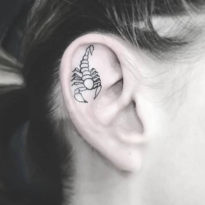 Calf Ear Tattoo