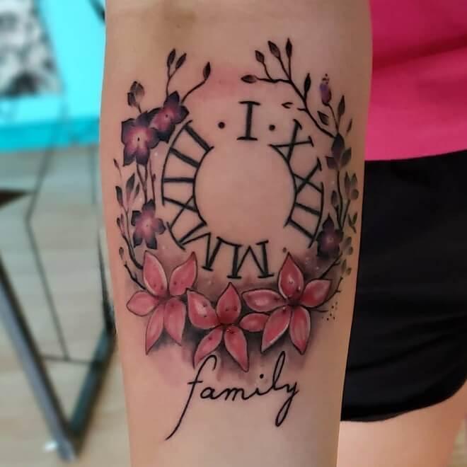 Clock Roman Numeral Tattoos