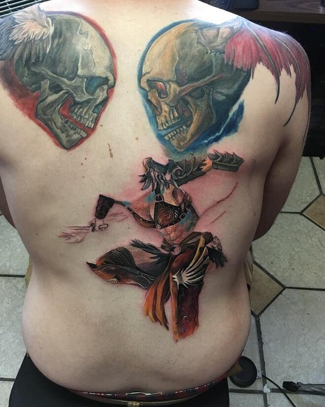 Colorful Badass Tattoo