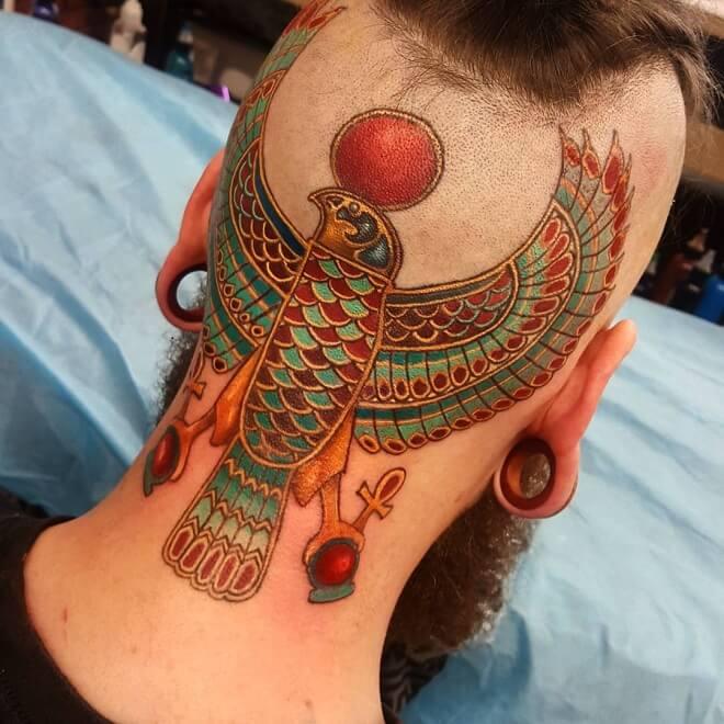 Colorful Egyptian Tattoo