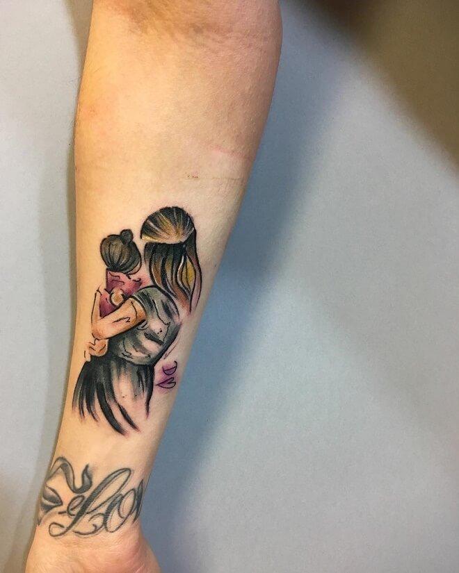Colorful Mom Tattoo