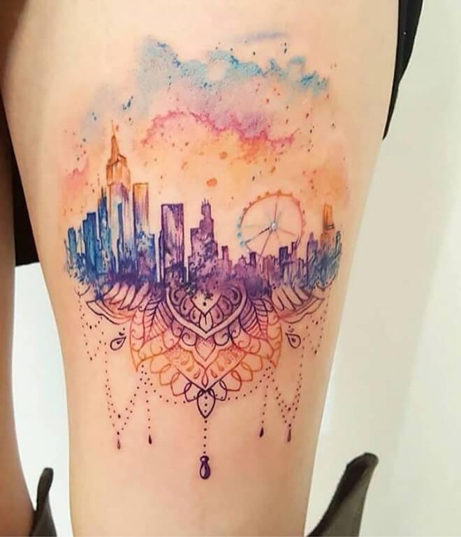 Colorfull City Tattoo