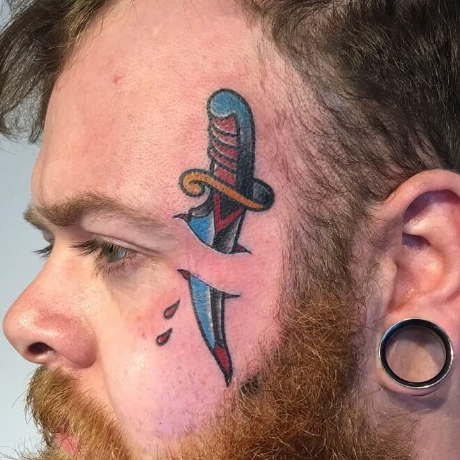 Colour Face Tattoo