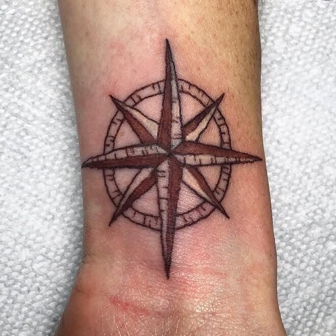 Compas Small Tattoo