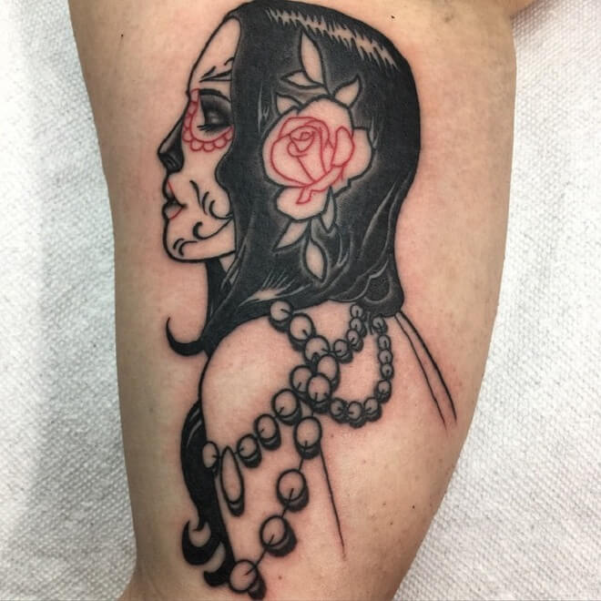 Cool Day of The Dead Tattoo