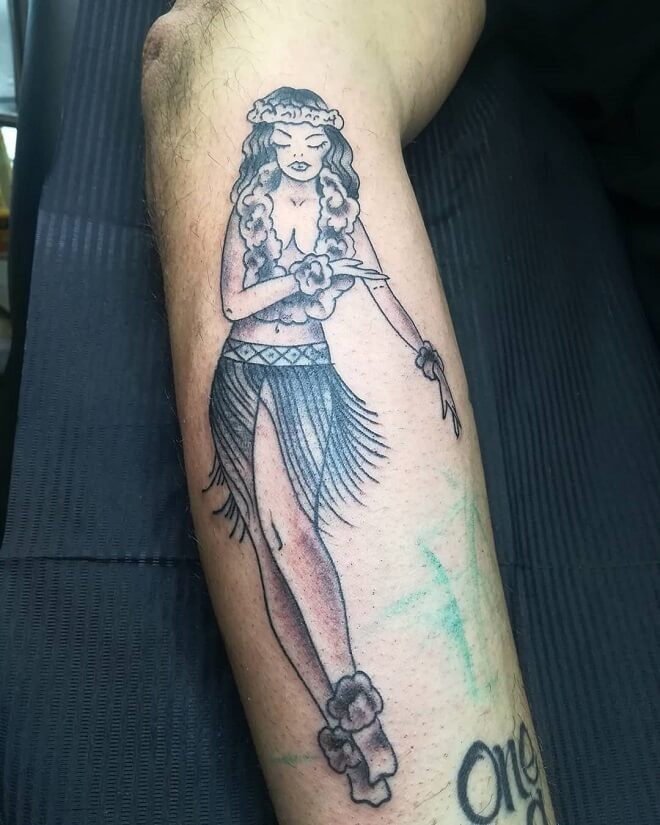 Cool Pin Up Doll Tattoos