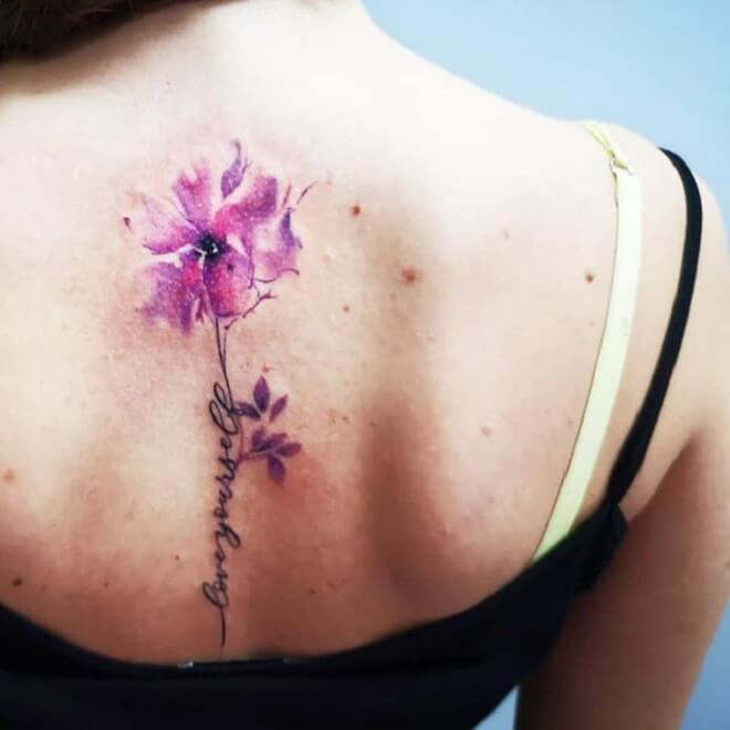 Cool Watercolor Tattoo