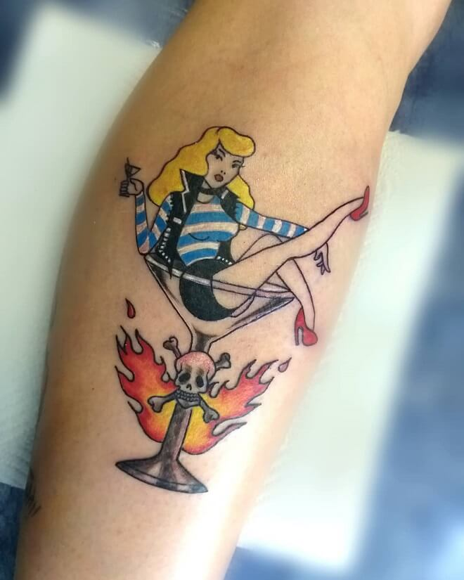 Crazy Pin Up Doll Tattoo