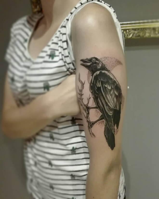 Crow Body Tattoo
