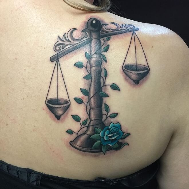 Custom Libra Tattoo