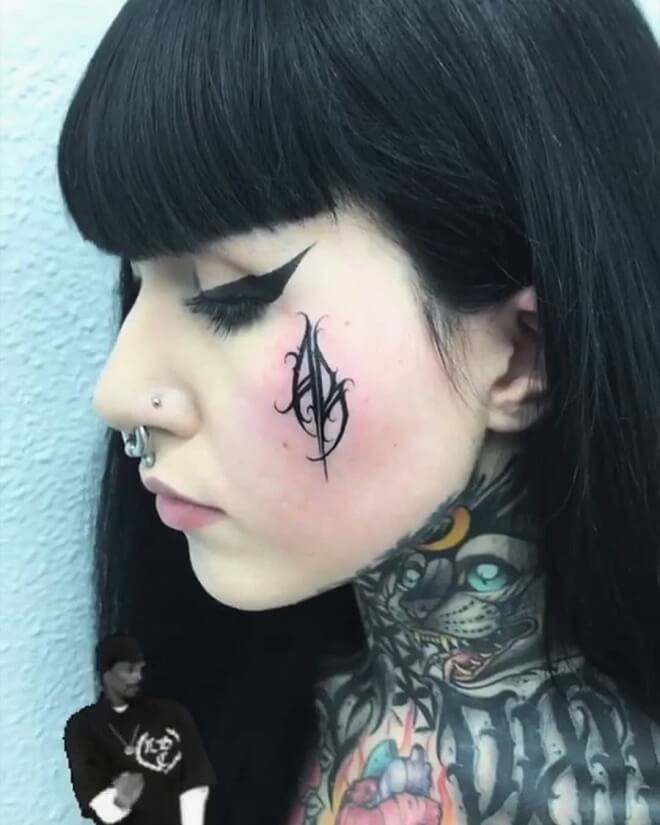 Dark Face Tattoo