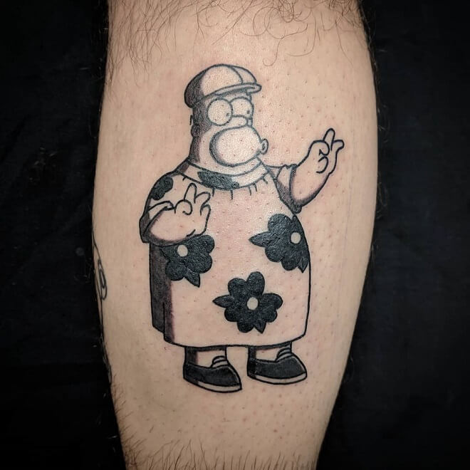 Dark artists simpsons Tattoos