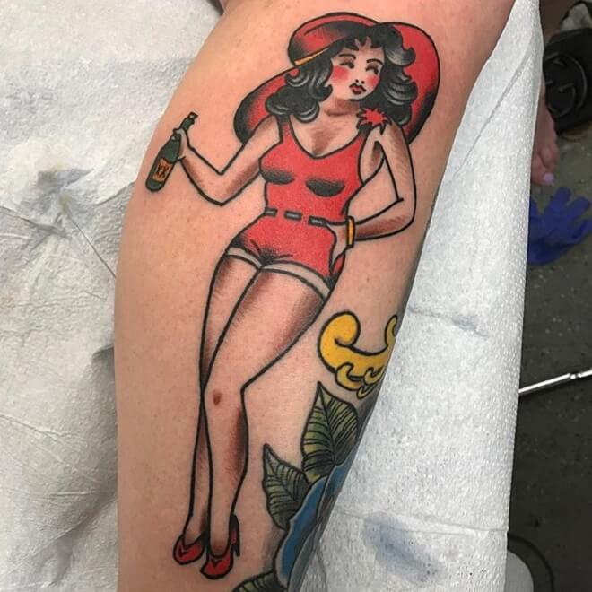 Top 30 Pin Up Dolls Tattoos Popular Pin Up Dolls Tattoo Designs 2019