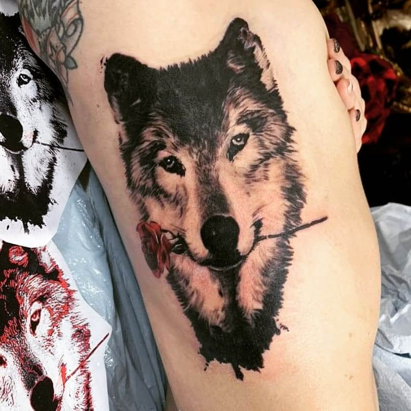 Dog Rib Cage Tattoo