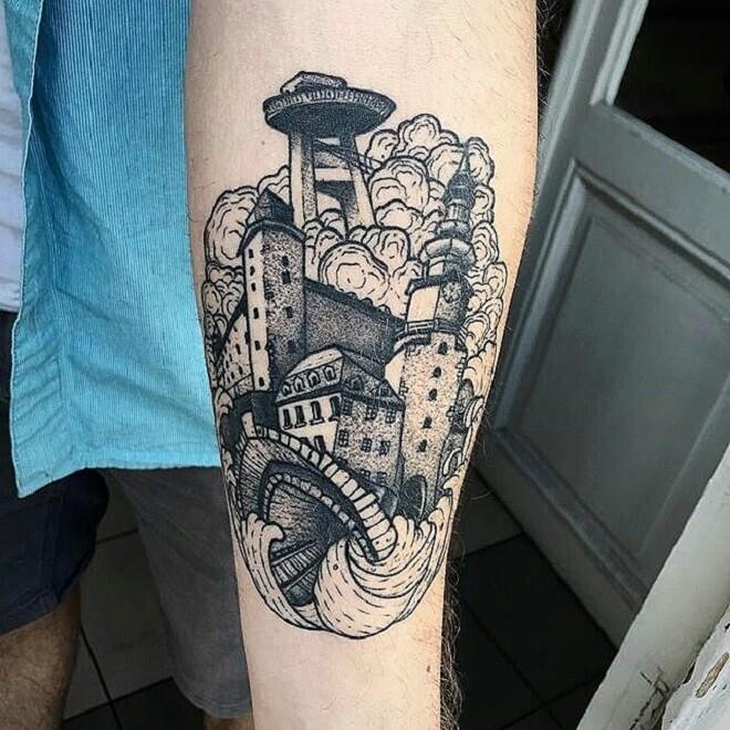 Dotwork Tattoo Design