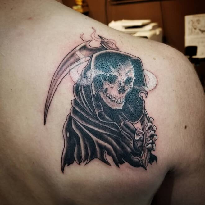 Dynamic Ink Grim Reaper Tattoo