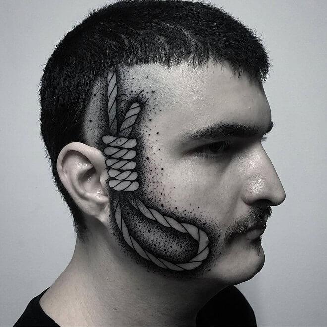Face Head Tattoo
