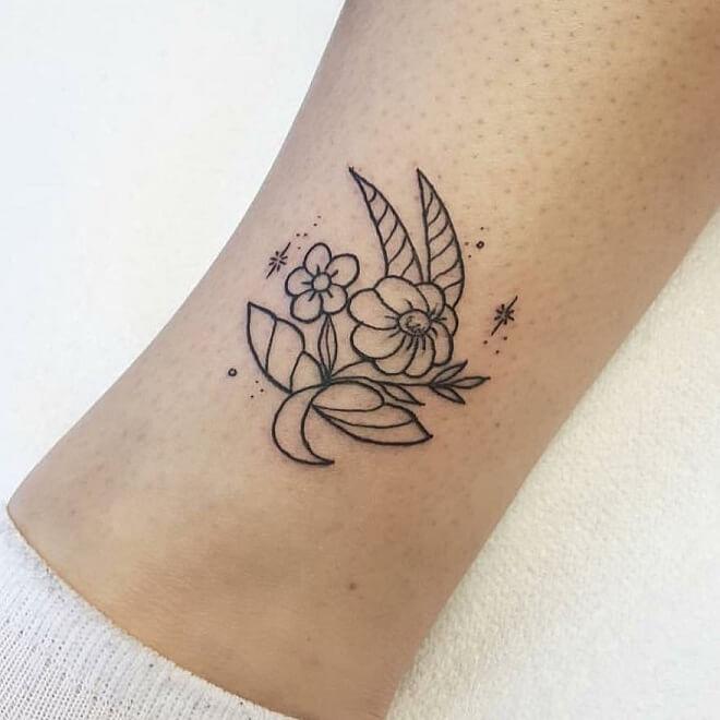Fine Line Capricorn Tattoo
