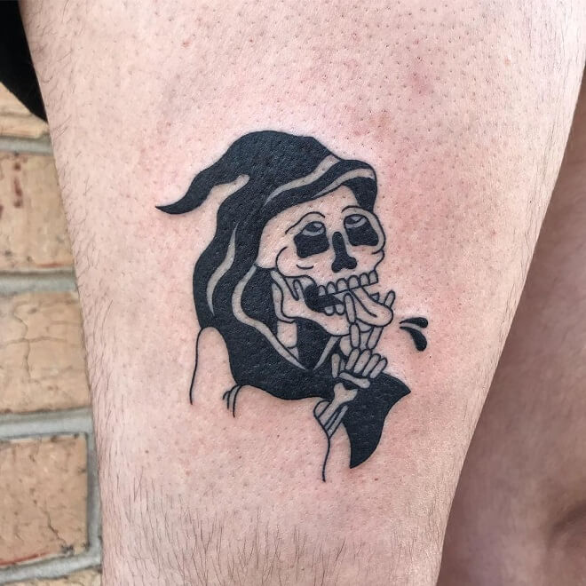 Flash Grim Reaper Tattoo