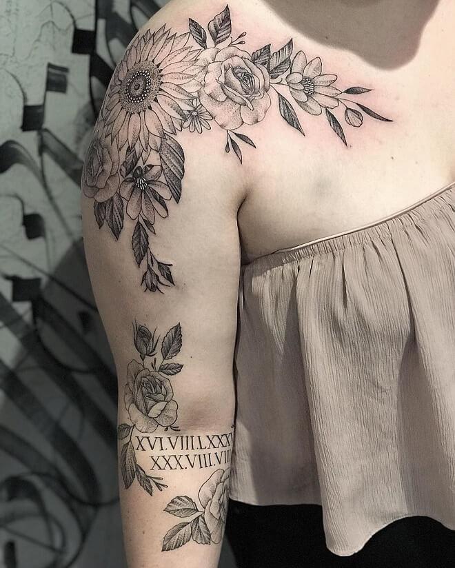 Floral Collar Bone Tattoo