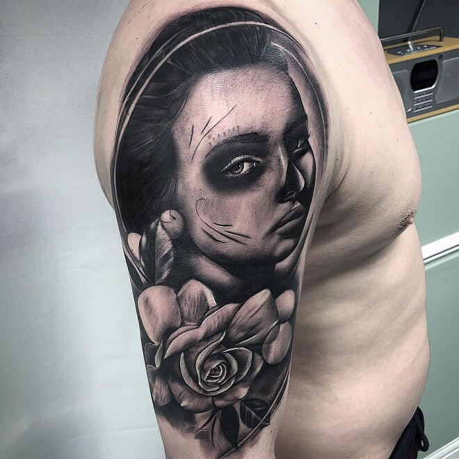 Flower Day of The Dead Tattoo