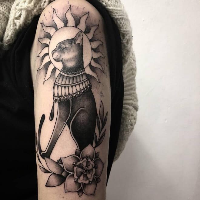 Flower Egyptian Tattoo